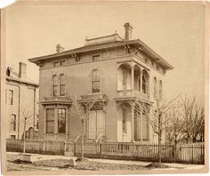 Lyman Cochrane house | DPL DAMS Detroit - 82 Winder Street - owned by a judge 1873 cc