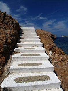 Leros, Greece. (by chriskara1971) Places To Travel, Places To See, Cool Pictures, Cool Photos, Stairs To Heaven, Myconos, Once In A Lifetime, Greek Islands, Pathways