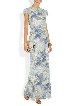 Erdem|Aurelia printed silk-crepe gown|NET-A-PORTER.COM