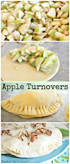Apple Turnovers- Perfect fall dessert that the whole family will love.