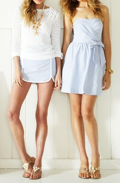 Lilly Pulitzer Seersucker Looks Prep Fashion, Fashion Outfits, Prep Style, My Style, Moda Formal, Summer Outfits, Cute Outfits, Nantucket, Seersucker
