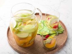 This White Sangria only takes five to 10 minutes to assemble in a large pitcher. Take the time to prepare it in the morning so the sangria has several hours to develop its fruity flavor.