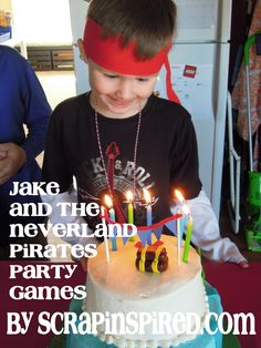 Jake and the Neverland Party Pirate games by Monica at ScrapInspired.com