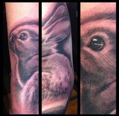 Female Rabbit, Rabbit Tattoos, Future Tattoos, Tattoo Inspiration, Portrait, Tattoo Ideas, Image, Bunny Tattoos, Headshot Photography