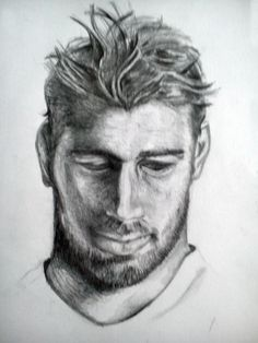 portrait drawing by designedbyhannah.squarespace.com Portrait, Drawings, Art, Art Background, Men Portrait, Kunst, Gcse Art, Drawing, Paintings