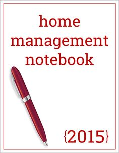 Home Management Notebook*****There are SO MANY good quality printable of all different types, especially holidays on this website ***MA***
