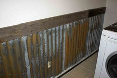 Tutorial on how to rust metal from The B Farm: Farm Laundry Room Wall