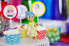 Inside Out Party Ideas Disney Movie Party frostedevents.com @frostedevents.com     kids party ideas, inside out movie, rainbow party