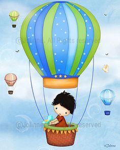 Hot air balloon boys room decor nursery art art for by jolinne, $15.00
