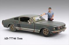 Gas Station Attendant Tom Figure For 1:24 Diecast Model Cars