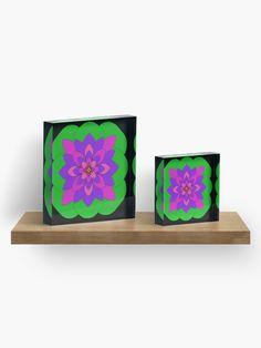"""Mandala Lotus Flower "" Acrylic Block by Pultzar   Redbubble"
