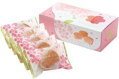 Haru no Sakura Japanese Snacks, Japanese Candy, Japanese Food, Asian Design, Cute Food, Party Cakes, Packaging Design, Tart, Girly