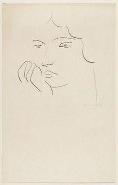 Pensive Woman  Henri Matisse (French, 1869-1954)