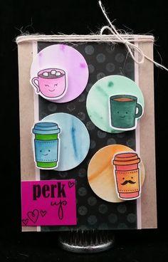 Amethystcat Designs: Stamping with Seleise: Perk Up: Summer Coffee Lovers Blog Hop