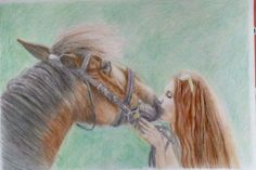 A3 pastelky Horses, Animals, Animales, Animaux, Animais, Horse, Words, Animal