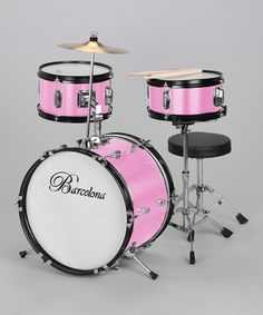 Take a look at this Pink Junior Drum Set on zulily today!