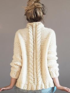 Knit Kit - Chunky Cable Knit Jumper - Make your own Super Chunky knit Sweater DIY kit Jumper Knitting Pattern, Jumper Patterns, Chunky Knitting Patterns, Knitting Kits, Knitting Stitches, Knitting Needles, Easy Knitting, Knitting Yarn, Knitting Projects