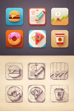 Flat Icon set by Mike Saved onto Design Collection in Graphi.- Flat Icon set by Mike Saved onto Design Collection in Graphic Design Category Flat Icon set by Mike Saved onto Design Collection in Graphic Design Category - Ios App Design, Mobile App Design, Design Plat, Graphisches Design, Logo Design, App Icon Design, Game Design, Flat Design, Ui Design Tutorial