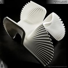 Furniture design by Alexander White . the MONROE chair - inspired by the Marilyn Monroe's famous billowing dress. Unique Furniture, Contemporary Furniture, Furniture Design, Bespoke Furniture, Furniture Inspiration, Design Inspiration, Parametric Design, Cool Chairs, Awesome Chairs