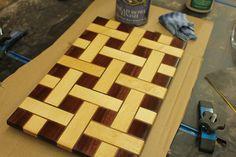 Basket Weave Cutting Board