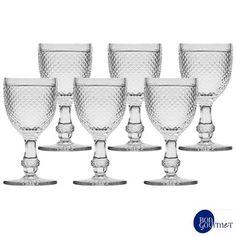 Conjunto de Taças para Água Bon Gourmet em Vidro - RJ6740 - com 234 ml, 06 peças. Confira na Fast Shop.