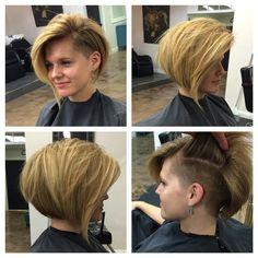 MY style. Thank you Kelly :) #hair #haircut #shorthair #shorthaircut #bobhaircut #undercut #thisismyart #imakehotgirlshotter #thestandardhairstudio