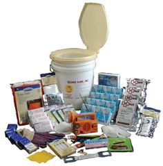 Trey and I have been saying we need to make something like this.  A severe weather kit. For storms that knock the power out or tornado threats and whatnot.