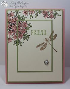 I used another beautiful new stamp set from Stampin' Up! called Awesomely Artistic to create my card to share today.
