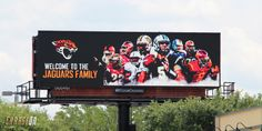 The Jacksonville Jaguars put up three billboards around Orlando with Blake Bortles and Storm Johnson featured on them.