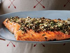 We couldn't get over how delicious and silky-rich this salmon is, or how foolproof the recipe is. Don't be thrown off by the total time it requires: Think of it instead as a great make-ahead dish, where all you have to do the night of the gathering is pop the fish in the oven for a short time. The dill sauce will keep in the fridge for up to one week.