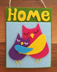#handmade #felt #doordecor #walldecor #hugging #owls #forsale #onebay