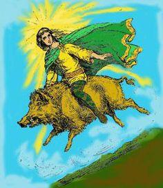 Frey riding boar