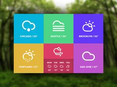 OS X Weather Widget / Inspired by the Windows 8 Tiles   Initial rough draft / Download the .PSD here.   Forgot to add the drop shadow to Portland symbol! Updated in .PSD file