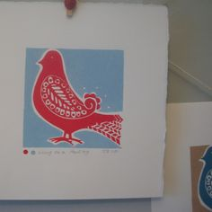 Wing on a Paisley Linoprint