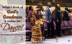 Dance with us this morning as we celebrate God's Goodness. Live service on www.fwcabuja.org/LiveStreaming.html #KnowingGod