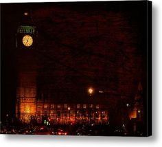 Palace Of Westminster Canvas Print / Canvas Art By Dorothy Berry-lound