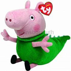 TY Beanie Baby - DINOSAUR GEORGE (UK Exclusive - Peppa Pi... Peppa 2e73c2e100ca