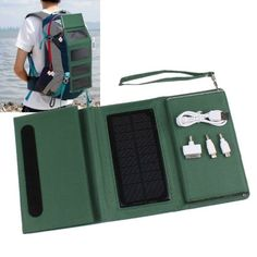 8000mAh Folding Solar Panel Power Storage Pack Power Bank with USB Port for Charging