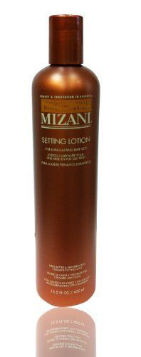 MIZANI Masters Line Setting Lotion 13.5oz by MIZANI. $19.44. MIZANI Masters Line Setting Lotion 13.5oz. This multi-level bold formula balances advanced fixatives with shea butter and patented ceramide for creating long lasting, roller sets, wraps, molds, and spirals. Infuse hair with conditioners and heat protectors while building body, bounce, and control. Experience better shine, hold and style memory for healthy-looking hair without stickiness ro residue.
