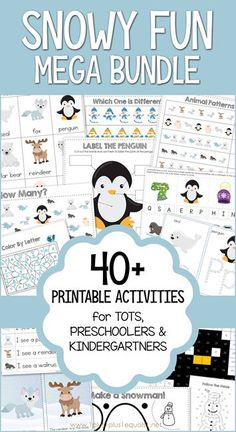 This printable bundle is filled with winter themed activities for tots, preschoolers, and Kindergartners. Penguins, snowmen, winter clothes and more will priovde hours of educational fun for your young child! Winter Activities, Preschool Activities, Preschool Lessons, Color Activities, Christmas Activities, Early Learning, Kids Learning, Polar Animals, Thanksgiving Preschool