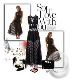 """Black maxi dress"" by chenzoe ❤ liked on Polyvore featuring MBLife.com, STELLA McCARTNEY and Lancôme"
