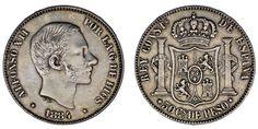 50 CENTS/50 CENTAVOS PESO. Ag. ALFONSO XII. FILIPINAS 1884. VF+/MBC+. RARE-RARA