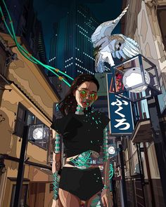 """Our Future Is Now"": The Incredible Cyberpunk Illustrations Of Mad Dog Jones – Design You Trust Cyberpunk City, Cyberpunk 2077, Cyberpunk Tattoo, Cyberpunk Kunst, Cyberpunk Fashion, Cyberpunk Aesthetic, Character Inspiration, Character Art, Cyberpunk Character"