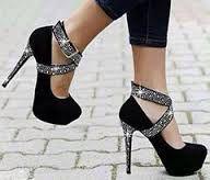 bedazzle the heel and add a strap! Sock Shoes, Cute Shoes, Me Too Shoes, Sparkly Heels, Prom Heels, Shoe Refashion, Shoes World, Black Heels, Girls Shoes