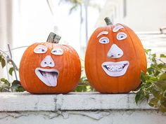 Kid Face Cut-Out Pumpkins >> http://www.diynetwork.com/decorating/11-unusual-ways-to-decorate-a-halloween-pumpkin/pictures/index.html?i=1?soc=pinterest