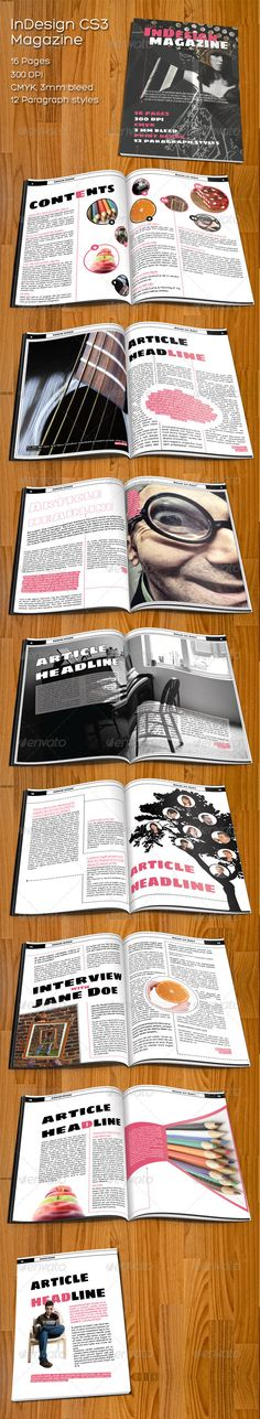 InDesign CS3 Magazine