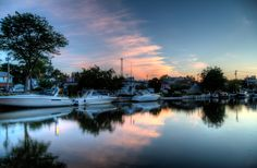 Sunset over the Erie Canal in Brockport, NY