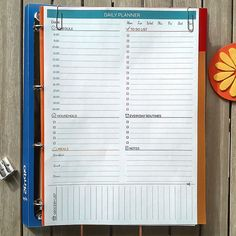 DAILY PLANNER Printable PDF. A4. Letter Size. by EasyLifePlanners