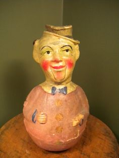 Roly Poly Doll Schoenhut Antique Toy Comic Clown