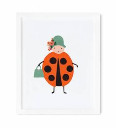 Lady bug print from Rifle Paper Co. Each print is archival printed on off-white paper. Maps Design, Design Design, Print Design, Kids Prints, Art Prints, Art Wall Kids, Wall Art, Wall Decor, Room Decor